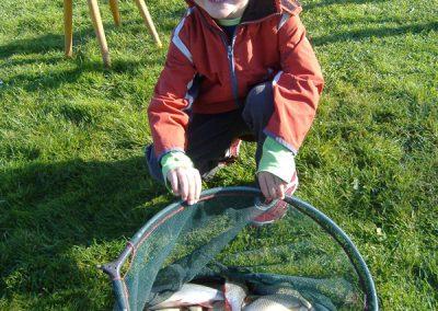 Een prachtige pannet vol vis voor Jarno Oolders